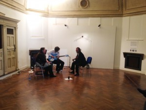 musical interlude in Bellwether exhibition