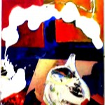 'Pouring',mixed-media on canvas,60x40cm,2001