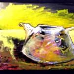 'Rich Tea',mixed-media on board,80x60cm,2002