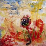 Une Rose pour..,oil on board,60x60cm,2007